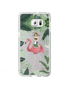Coque Lolo Love Flamant Rose Chien Transparente pour Samsung Galaxy S6 Edge Plus - Chapo