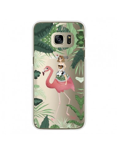 coque samsung s7 edge flamant rose