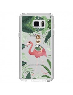 Coque Lolo Love Flamant Rose Chien Transparente pour Samsung Galaxy Note 5 - Chapo