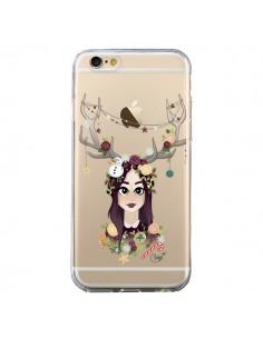 Coque iPhone 6 et 6S Christmas Girl Femme Noel Bois Cerf Transparente - Chapo