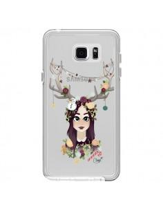 Coque Christmas Girl Femme Noel Bois Cerf Transparente pour Samsung Galaxy Note 5 - Chapo