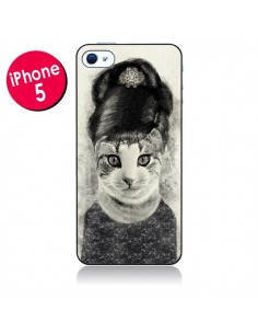 Coque Audrey Cat Chat pour iPhone 5 - Tipsy Eyes