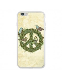 Coque Peace And Love Nature Oiseaux pour iPhone 6 Plus et 6S Plus - Rachel Caldwell