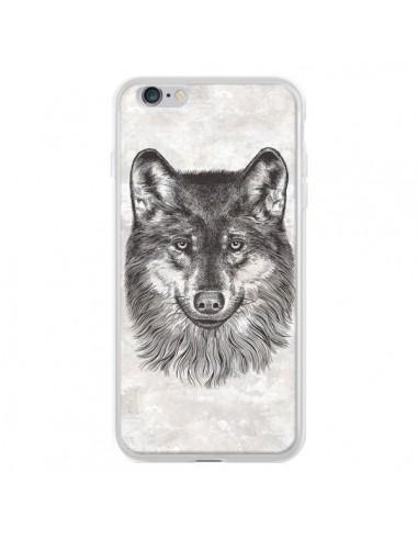 Coque iPhone 6 Plus et 6S Plus Loup Gris - Rachel Caldwell