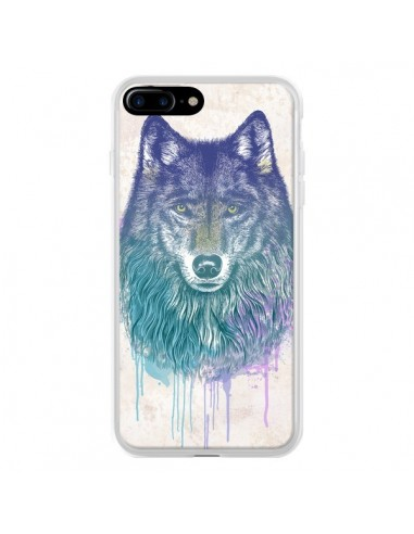 Coque iPhone 7 Plus et 8 Plus Loup -...