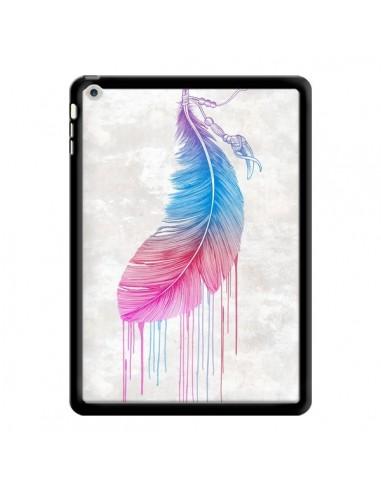 Coque Plume arc-en-ciel pour iPad Air...