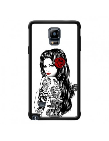 Coque Tattoo Girl Lolita pour Samsung Galaxy Note 4 - Rachel Caldwell