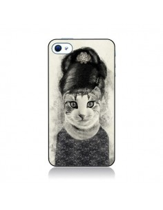 Coque Audrey Cat Chat pour iPhone 4 et 4S - Tipsy Eyes
