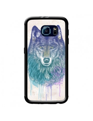 Coque Loup pour Samsung Galaxy S6 -...