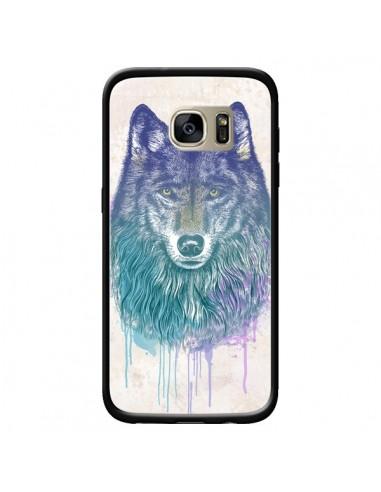 Coque Loup pour Samsung Galaxy S7...