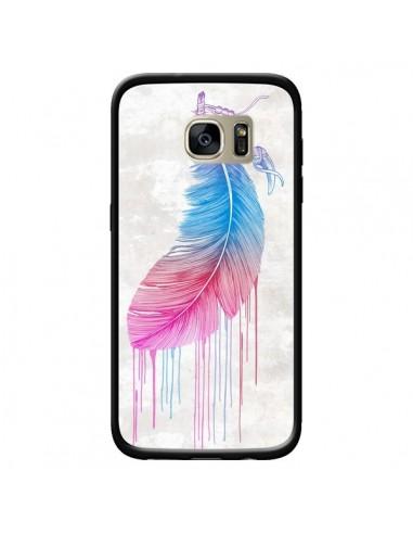 Coque Plume arc-en-ciel pour Samsung...