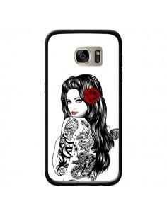 Coque Tattoo Girl Lolita pour Samsung Galaxy S7 Edge - Rachel Caldwell