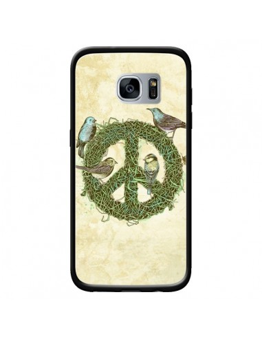 Coque Peace And Love Nature Oiseaux...