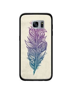 Coque Feather Plume Arc En Ciel pour Samsung Galaxy S7 - Rachel Caldwell