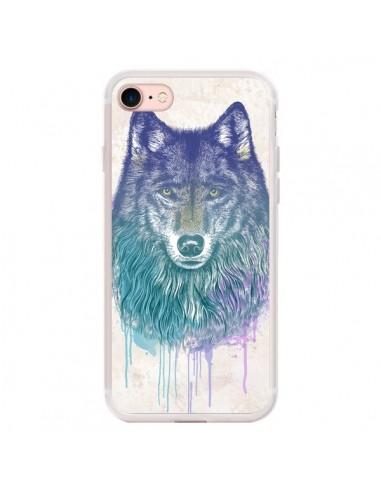 Coque iPhone 7/8 et SE 2020 Loup -...