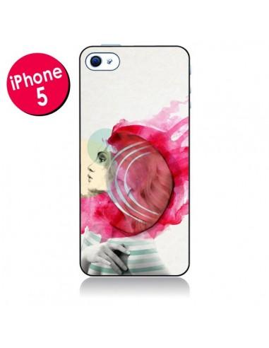 Coque Bright Pink Femme pour iPhone 5 - Jenny Liz Rome