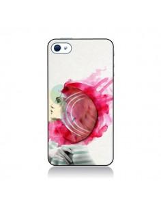 Coque Bright Pink Femme pour iPhone 4 et 4S - Jenny Liz Rome