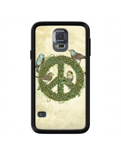 Coque Peace And Love Nature Oiseaux pour Samsung Galaxy S5 - Rachel Caldwell