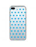 Coque Coeur Heart Love Amour Bleu Transparente pour iPhone 7 Plus - Laetitia