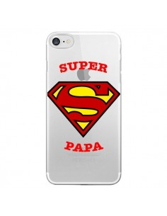 Coque Super Papa Transparente pour iPhone 7 - Laetitia