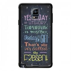 Coque Today is a gift Cadeau pour Samsung Galaxy Note 4 - Maximilian San