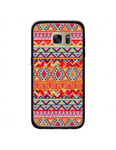 Coque India Style Pattern Bois Azteque pour Samsung Galaxy S7 Edge - Maximilian San