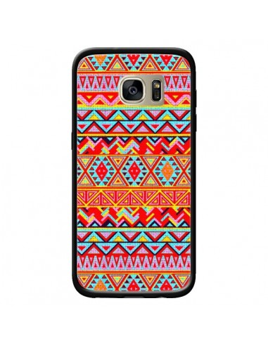 Coque India Style Pattern Bois Azteque pour Samsung Galaxy S7 Edge - Maximilian San