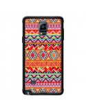 Coque India Style Pattern Bois Azteque pour Samsung Galaxy Note 4 - Maximilian San