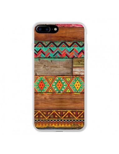 Coque iPhone 7 Plus et 8 Plus Indian Wood Bois Azteque - Maximilian San