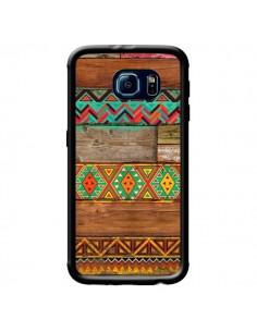 Coque Indian Wood Bois Azteque pour Samsung Galaxy S6 - Maximilian San
