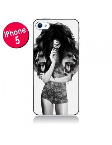 Coque Femme Lion pour iPhone 5 - Jenny Liz Rome