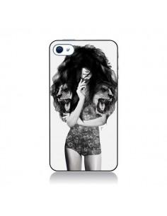 Coque Femme Lion pour iPhone 4 et 4S - Jenny Liz Rome