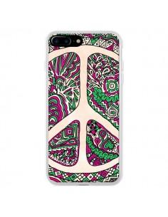 Coque Peace and Love Azteque Vainilla pour iPhone 7 Plus et 8 Plus - Maximilian San