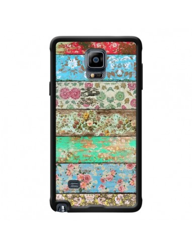 Coque Rococo Style Bois Fleur pour Samsung Galaxy Note 4 - Maximilian San