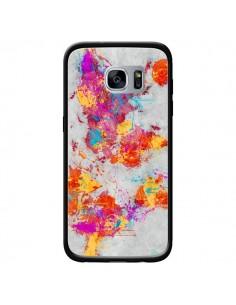 Coque Terre Map Monde Mother Earth Crying pour Samsung Galaxy S7 - Maximilian San