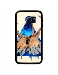 Coque Cerf Triangle Seconde Chance pour Samsung Galaxy S6 Edge - Maximilian San