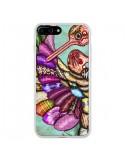 Coque iPhone 7 Plus et 8 Plus Paon Multicolore Eco Bird - Maximilian San