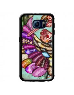 Coque Paon Multicolore Eco Bird pour Samsung Galaxy S6 - Maximilian San