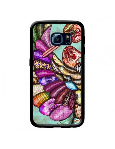 Coque Paon Multicolore Eco Bird pour Samsung Galaxy S6 Edge - Maximilian San
