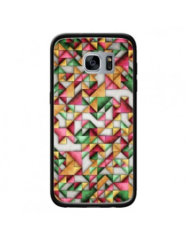 Coque Azteque Triangle Geometric World pour Samsung Galaxy S7 - Maximilian San