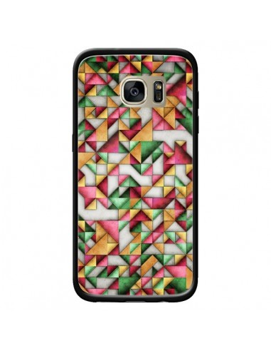 Coque Azteque Triangle Geometric World pour Samsung Galaxy S7 Edge - Maximilian San