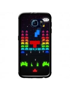 Coque Invatris Space Invaders Tetris Jeu pour Samsung Galaxy S6 - Maximilian San