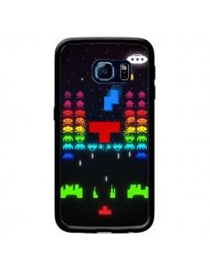 Coque Invatris Space Invaders Tetris Jeu pour Samsung Galaxy S6 Edge - Maximilian San
