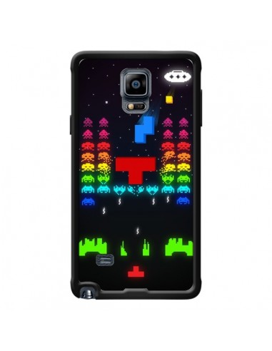 Coque Invatris Space Invaders Tetris Jeu pour Samsung Galaxy Note 4 - Maximilian San