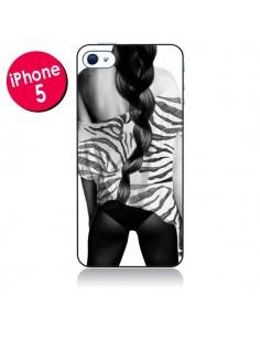 Coque Femme Zebre pour iPhone 5 - Jenny Liz Rome
