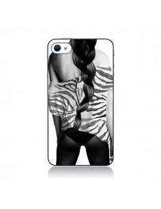 Coque Femme Zebre pour iPhone 4 et 4S - Jenny Liz Rome