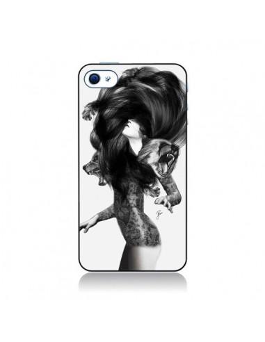 Coque Femme Ours pour iPhone 4 et 4S - Jenny Liz Rome