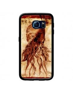Coque Octopu Skull Poulpe Tête de Mort pour Samsung Galaxy S6 Edge - Maximilian San