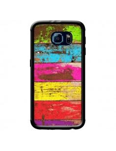 Coque Bois Coloré Vintage pour Samsung Galaxy S6 - Maximilian San