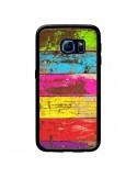 Coque Bois Coloré Vintage pour Samsung Galaxy S6 Edge - Maximilian San